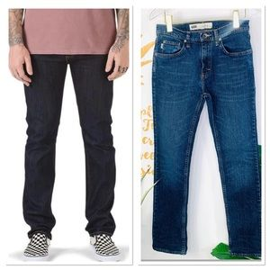 VANS V16 Slim Straight Leg Blue Youth Jeans 28x30
